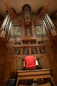 The massive organ at Piedmont College has been part of Nikolai's life since 2008 when he began lessons with Dr. Mellichamp.