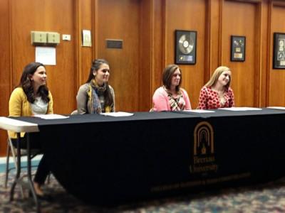 Allison Guisasola, Rachel Strazynski, Shelby Wrenn and Ashley McCoy